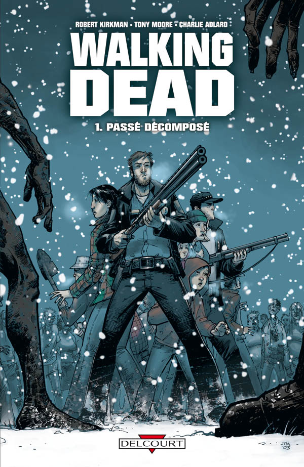 Couverture du tome 1 de The Walking Dead