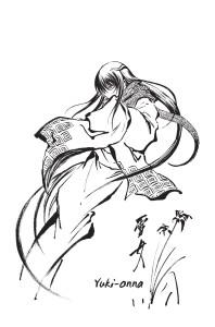 "Yuki-Onna représentée ""façon"" estampe Japonaise"