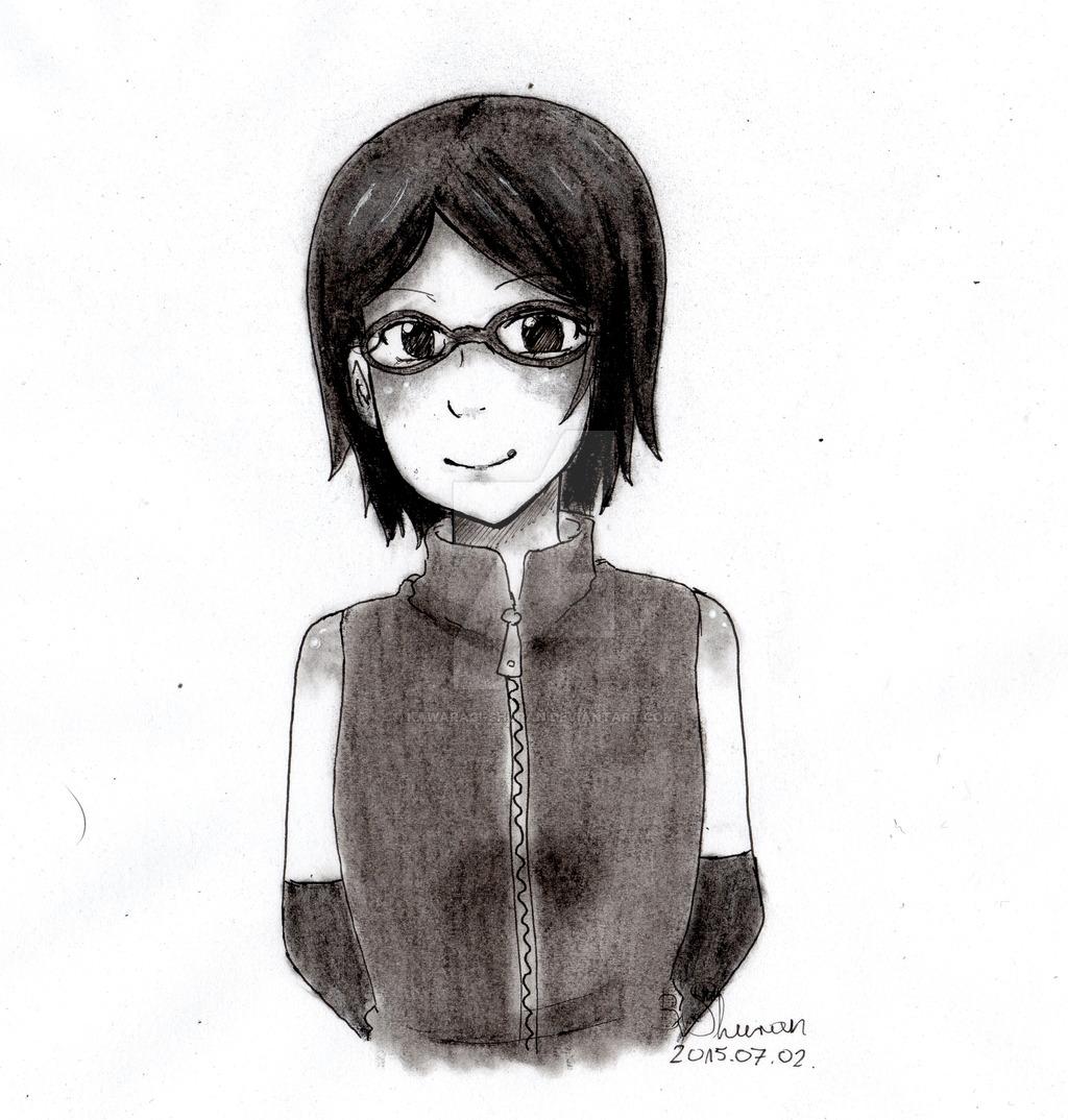 uchiha_sarada_fan_art__by_kawaragi_shuran-d8zowvk