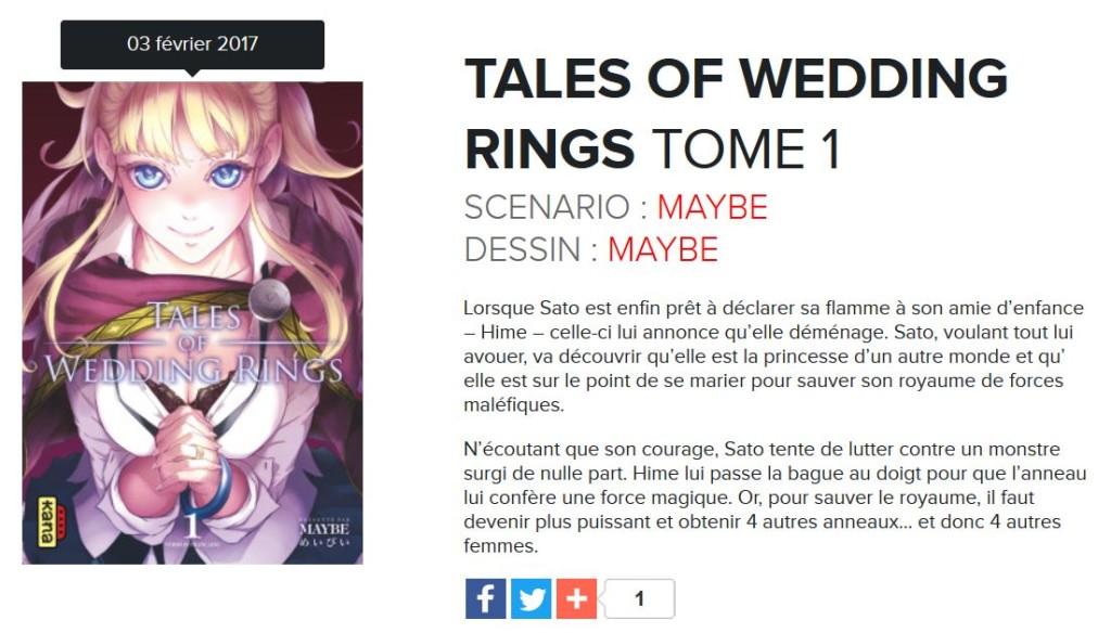 Tales Of Wedding Rings Le Trailer Kana
