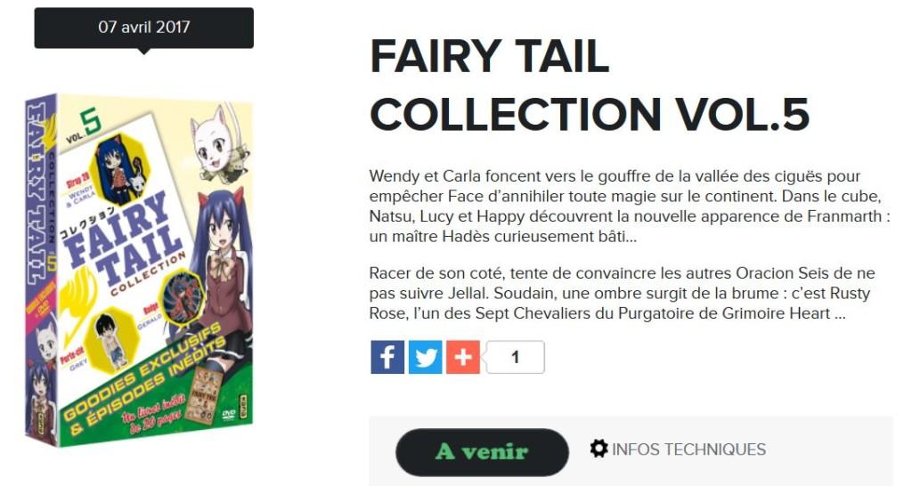 fairy tail collection 5 kana