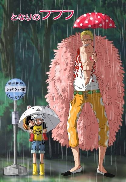 Law, Luffy et Doflamingo