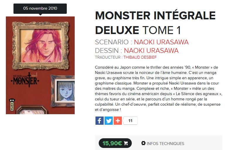 monster tome 1 kana urasawa