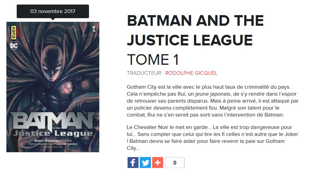 batman justice league tome 1
