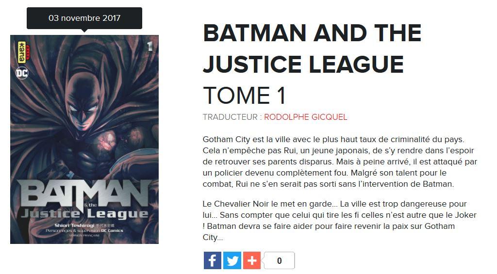 batman justice league tome 1