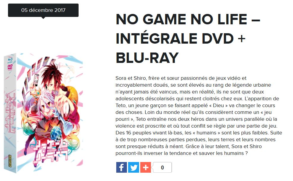 no game no life dvd blu-ray