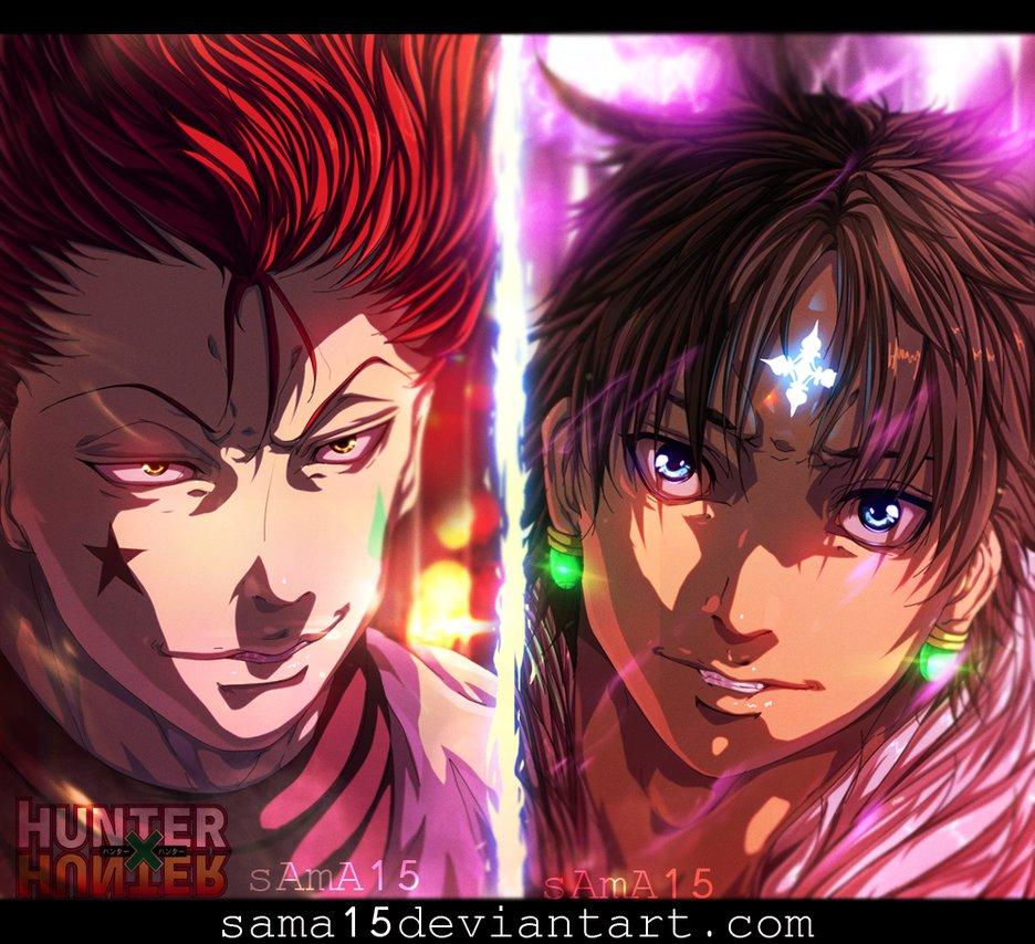 manga_hunter_x_hunter_351___hisoka_vs_chrollo_by_sama15-da0qxpi