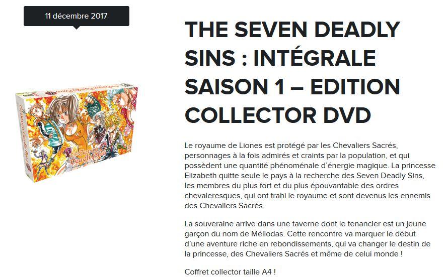 seven deadly sins coffret