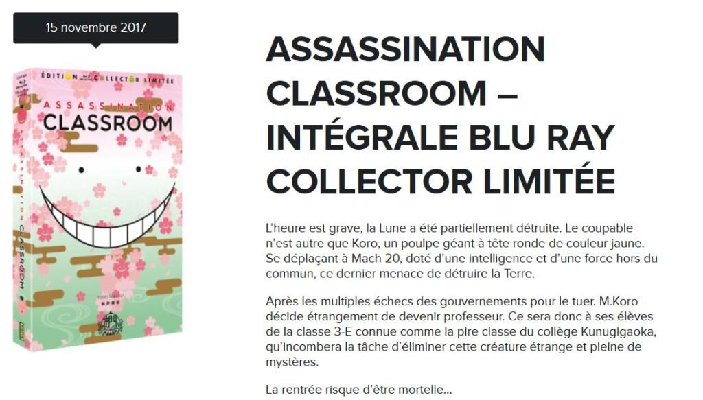 assassination vol1 collector kana blu ray