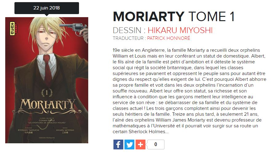 moriarty tome 1